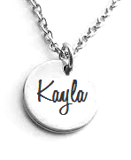 EJ59 - Personalized Children's Name Necklace, 15mm pendant