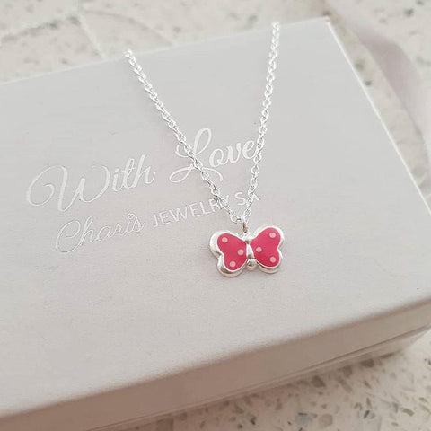 C1011-C29843 - 925 Sterling Silver Children's Butterfly Necklace