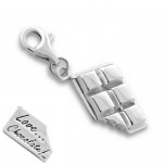 C7-C11371 - 925 Sterling Silver Chocolate Charm Dangle for Charm Bracelet