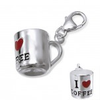 Sterling silver coffee cup charm dangle