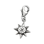 C303-C32104 - 925 Sterling Silver Compass Charm