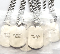 EJ90 - Corporate Gifts Personalized Stainless Steel Dog Tag Chains (Min Order 10)
