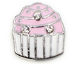 FLC144 - Cupcake charm for Floating Locket Necklace