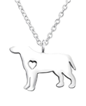 C445-C30876 - 925 Sterling Silver Dog Necklace