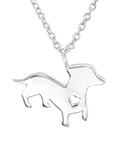 C443-C29877 - 925 Sterling Silver Dog Necklace