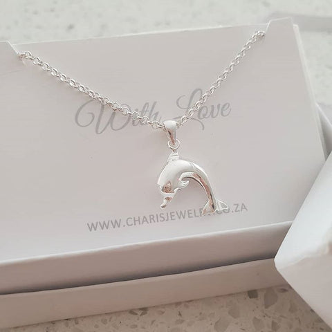 C2798 - 925 Sterling Silver Dolphin Necklace