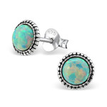 Sterling Silver Moon Yellow Opal Earrings jewellery store South Africa
