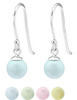 C750-C24369 -  925 Sterling Silver Pastel Dangle Earrings 6mm