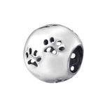 sterling silver paw print charm bead online shop in South Africa