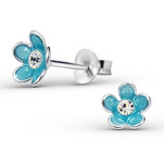 sterling silver children's flower ear studs jewelry store in South Africa