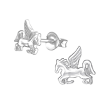 C892-C36674 - 925 Sterling Silver Unicorn Ear Stud Earrings