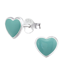 sterling silver children's heart earrings online jewelry store in SA