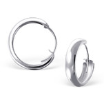 C756-C17637 - 925 Sterling Silver Hollow Hoop Earrings 16mm, 4mm