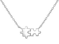 C877-C37388 - 925 Sterling Silver Puzzle Piece Necklace