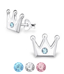 sterling silver children's crown earrings online store in South Africa