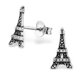 C29367 - 925 Sterling Silver Eiffel Tower Stud Earings
