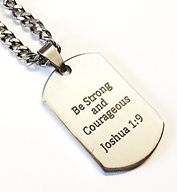 EJ3 - Custom Engraved Mens Dog Tag Chain, Stainless Steel (Ready in 5-7 days!)