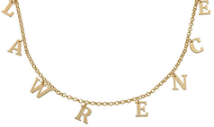 N154 - Name Choker Necklace in Sterling Silver with 18K Gold Plating - Up to 8 Characters
