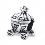 C89-C11112 - Sterling Silver Princess Carriage European Bead