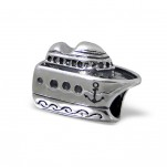 C44-C10520 - Sterling Silver Cruise Ship Charm, European Bead