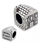 C40-5594 - Sterling Silver Home Sweet Home European Bead
