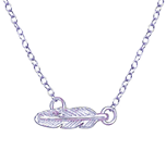C680-C23088 - 925 Sterling Silver Feather Necklace