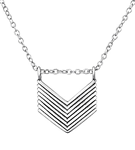 B126-C29899 - 925 Sterling Silver Chevron Necklace