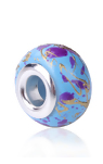 EU9-CB0102619 - Glass Blue, Purple & Gold Specs European Bead