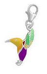 C762-C15311 - 925 Sterling Silver Hummingbird Charm Dangle