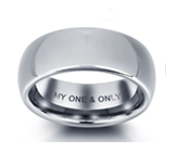 N285 - Stainless Steel Personalized Men's Ring