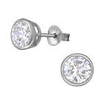 Sterling silver cz ear stud earrings online store in SA