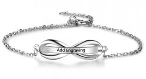 J14-CBA102088 - Ladies Personalized Sterling Silver Bracelet