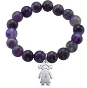 N792 - Sterling Silver Personalized up to 3 Children's Names Bead Bracelet - 4  Different Color Beads options.