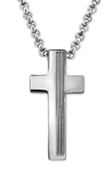 B127 - C27998 Stainless Steel Men's Cross Necklace