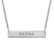 N1018 - 925 Sterling Silver Personalized Tiny Bar Name Necklace