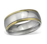 C230-C29077 - High Polish Men's Titanium Ring