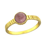 C768-C36330 - Gold Plated Rhodonite Stone Ring