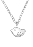 C766-C19671 - 925 Sterling Silver Tiny Bird Necklace
