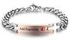 J13 - CBA101978 - Ladies Personalized Words and Birthstone Cross Stainless Steel Bracelet