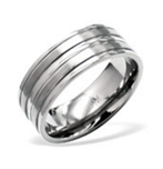 B129-C29065 - Men's High Polish Titanium Ring