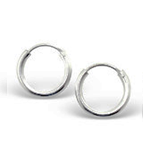 C764-C6807 - 925 Sterling Silver Round Hoop Earrings 12mm, 2mm thick
