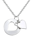 C769-C19958 - 925 Sterling Silver Cut out Heart Necklace