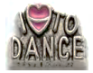 LM-10 - I love to dance Floating Charm for Locket