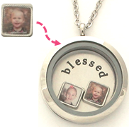 LCU-02 - Personalized Tiny Square Photo Charm. Can fit any locket.