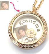 PH1 - Custom Small Square Photo Print, can fit inside any of our Floating Locket Necklaces