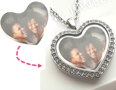 PH3 - Custom Heart Photo Print, can fit inside any of our Heart Lockets