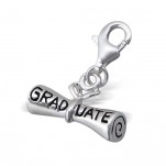 C25-C7301 - Graduate 925 Sterling Silver Graduation Charm Dangle