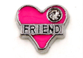 FLC165 - Friend Heart with Stone Floating charm for Floating Locket