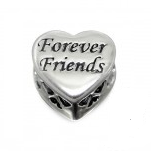C122-C14707 - 925 Sterling Silver Forever Friends European Bead (No Stones)