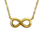 C468-C22009 - Gold Plated over Sterling Silver Infinity Necklace